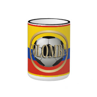 Colombia Soccer Ball Mugs