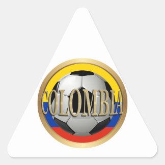 Colombia Soccer Ball Triangle Sticker