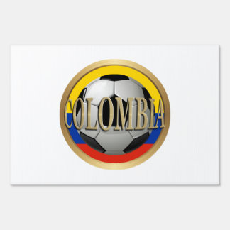 Colombia Soccer Ball Signs