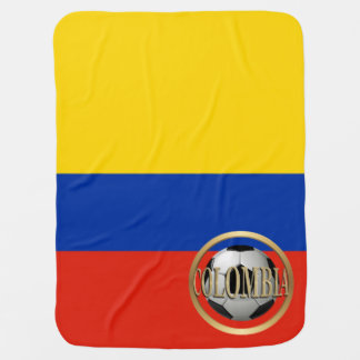 Colombia Soccer Ball Swaddle Blanket