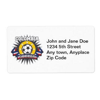Colombia Soccer Burst Label
