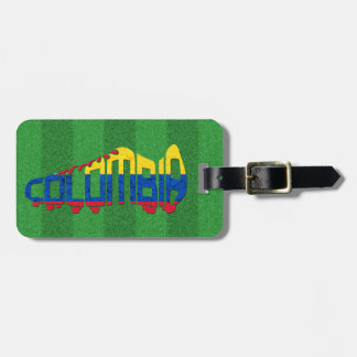 Colombia Soccer Cleat Calligram Bag Tag