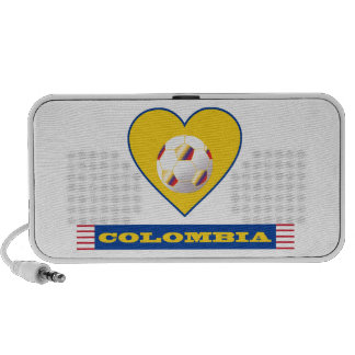 COLOMBIA SOCCER heart and scarf flag 2014 Portable Speaker