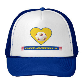 COLOMBIA SOCCER heart and scarf flag 2014 Trucker Hat