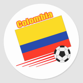 Colombia Soccer Team Classic Round Sticker