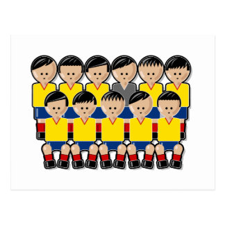Colombia soccer team postcard