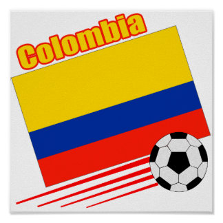 Colombia Soccer Team Poster