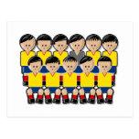 Colombia soccer team tarjeta postal