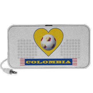 COLOMBIA SOCCER yellow Heart National Team Speaker