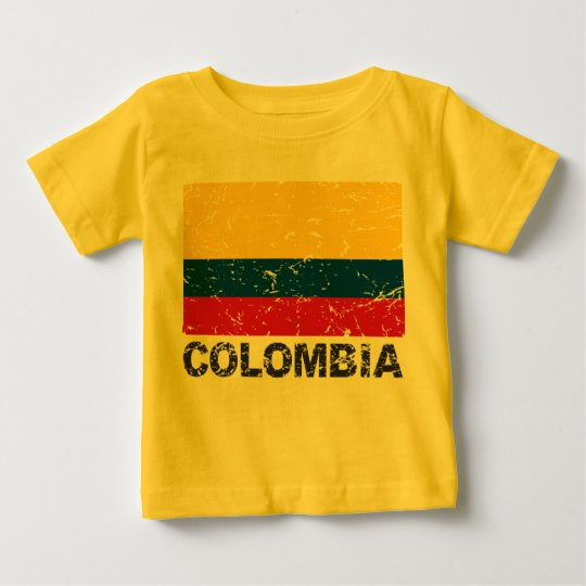 Colombia Vintage Flag Baby T-Shirt