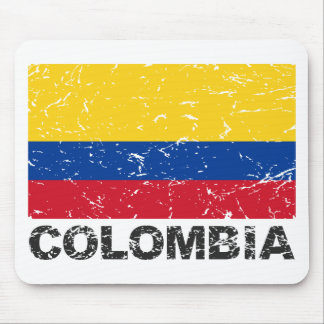Colombia Vintage Flag Mouse Pad
