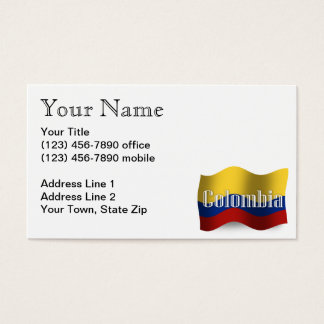 Colombia Waving Flag Business Card