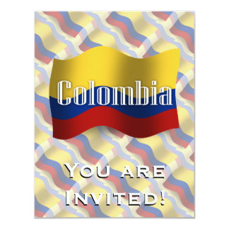 Colombia Waving Flag Card