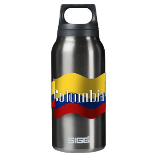 Colombia Waving Flag Insulated Water Bottle