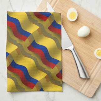 Colombia Waving Flag Hand Towel
