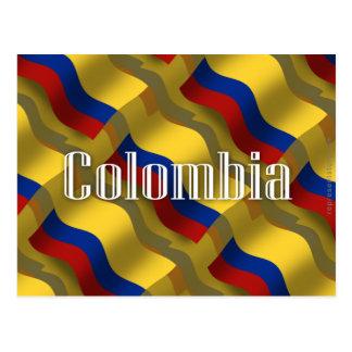 Colombia Waving Flag Postcard