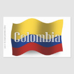 Colombia Waving Flag Stickers