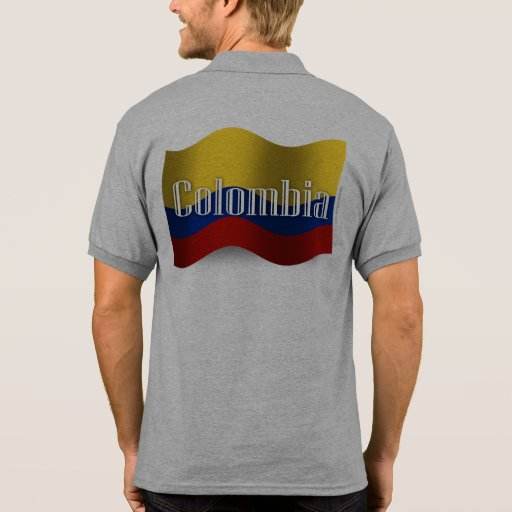 Colombia Waving Flag T Shirts