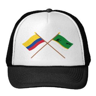 Colombia y banderas cruzadas Amazonas Gorra