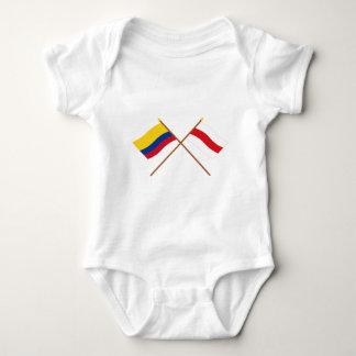 Colombia y banderas cruzadas Atlántico Playera