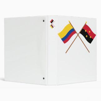 Colombia y banderas cruzadas Santander de Norte de