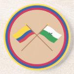 Colombia y banderas cruzadas Vaupés Posavasos Manualidades