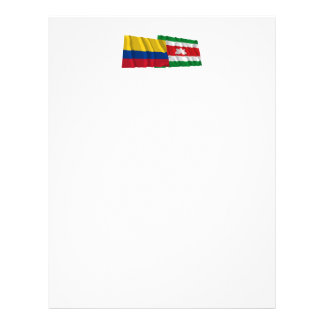 Colombia y banderas que agitan de Boyacá Membrete Personalizado