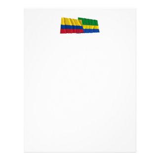 Colombia y banderas que agitan de Chocó Membrete A Diseño