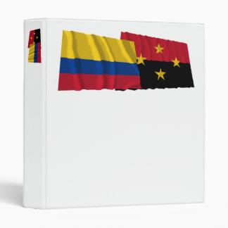 Colombia y banderas que agitan de Norte de Santand