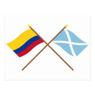 Colombia y San Andrés y Providencia cruzaron bande Tarjeta Postal