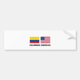 Colombian American Car Bumper Sticker