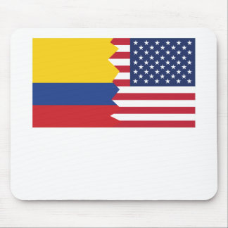 Colombian American Flag Mouse Pad