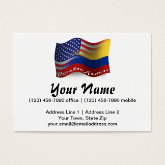 Colombian-American Waving Flag Business Card
