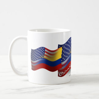 Colombian-American Waving Flag Coffee Mug