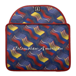 Colombian-American Waving Flag Sleeve For MacBook Pro