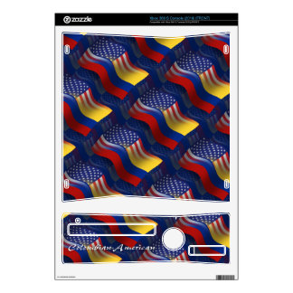 Colombian-American Waving Flag Decal For The Xbox 360 S
