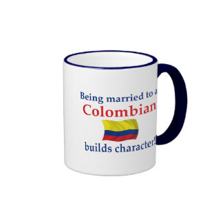 Colombian Builds Character Ringer Coffee Mug