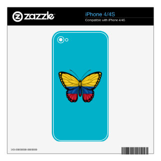 Colombian Butterfly Flag iPhone 4S Decals