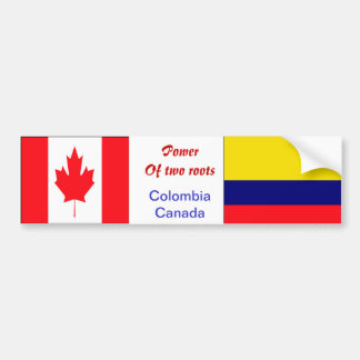 Colombian-canadian bumper stickers