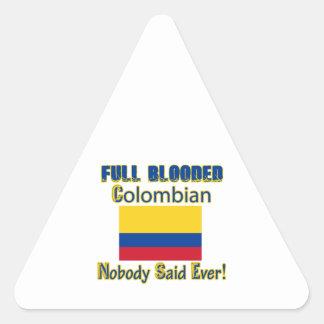 Colombian citizen design triangle sticker