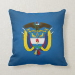 Colombian coat of arms throw pillow