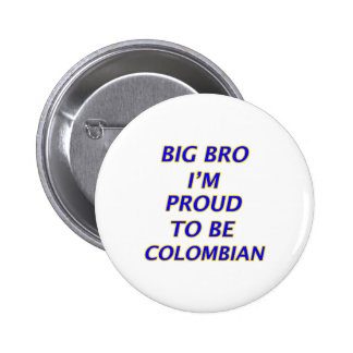 colombian design 2 inch round button