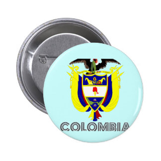 Colombian Emblem 2 Inch Round Button