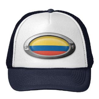 Colombian  Flag in Steel Frame Trucker Hat