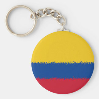 Colombian Flag Basic Round Button Keychain