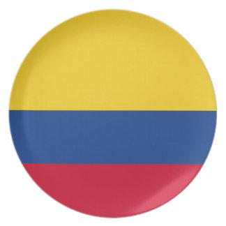 Colombian flag melamine plate
