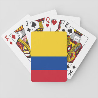 Colombian flag playing cards
