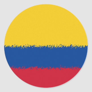 Colombian Flag Round Stickers