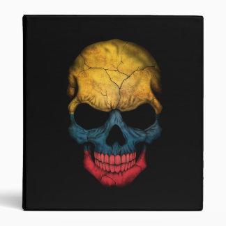 Colombian Flag Skull on Black Binder