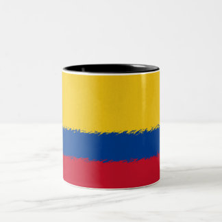 Colombian Flag Two-Tone Coffee Mug